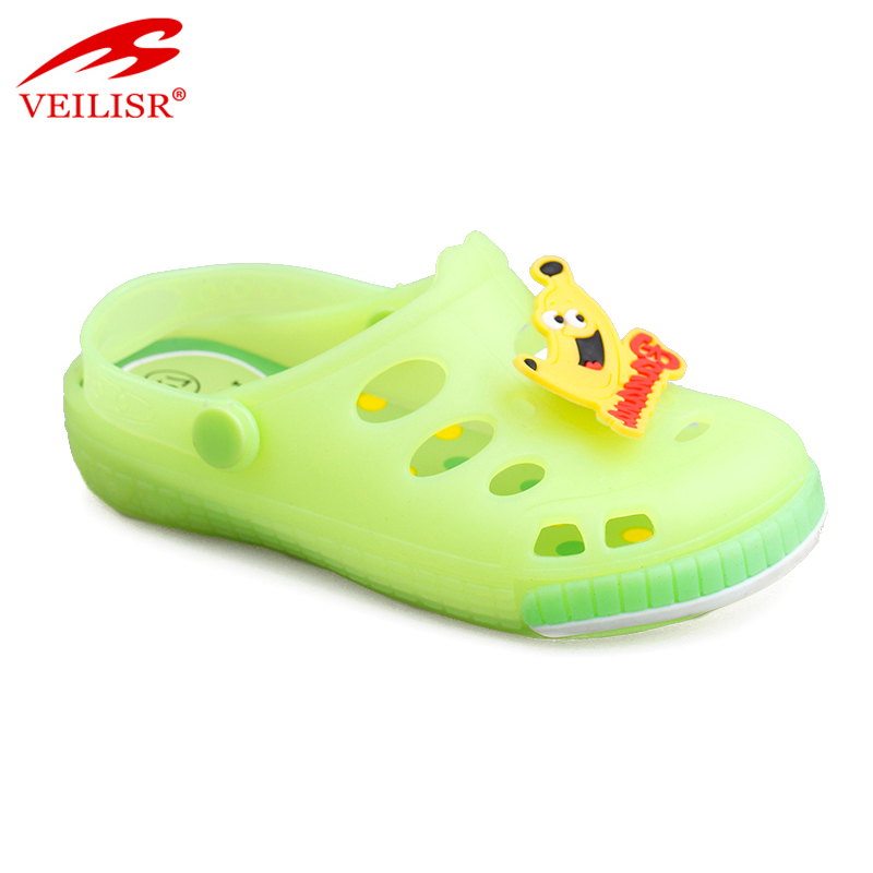 New style cartoon children PVC sandals jelly shoes led light kids clogs