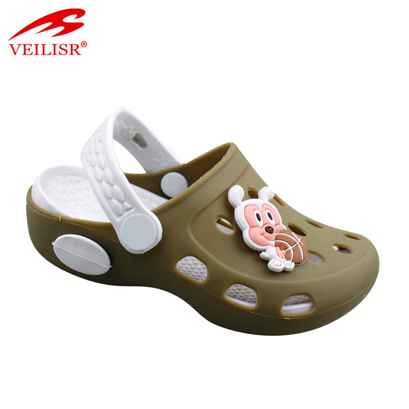 Brazil cartoon pvc plastic sandals anti slip kids garden clogs