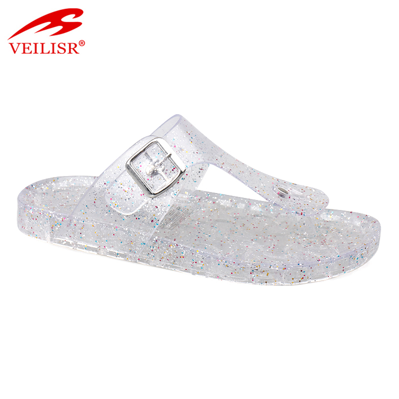 Chancletas summer beach ladies PVC jelly shoes women flip flops