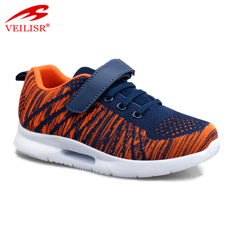 New design fly knit mesh fabric children sneakers kids sports casual shoes