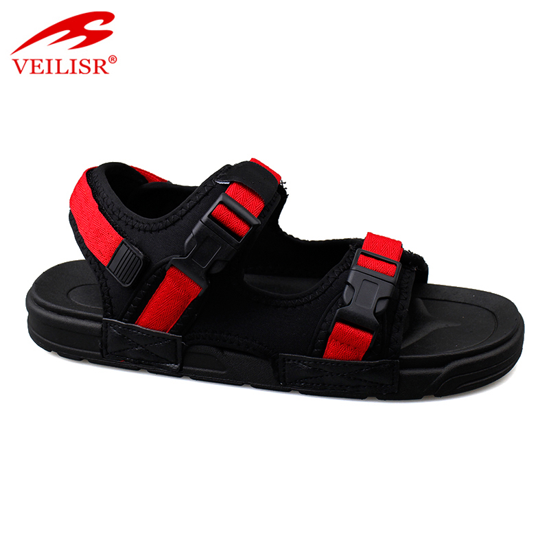 New design nylon strap buckle sandalias sport men sandals