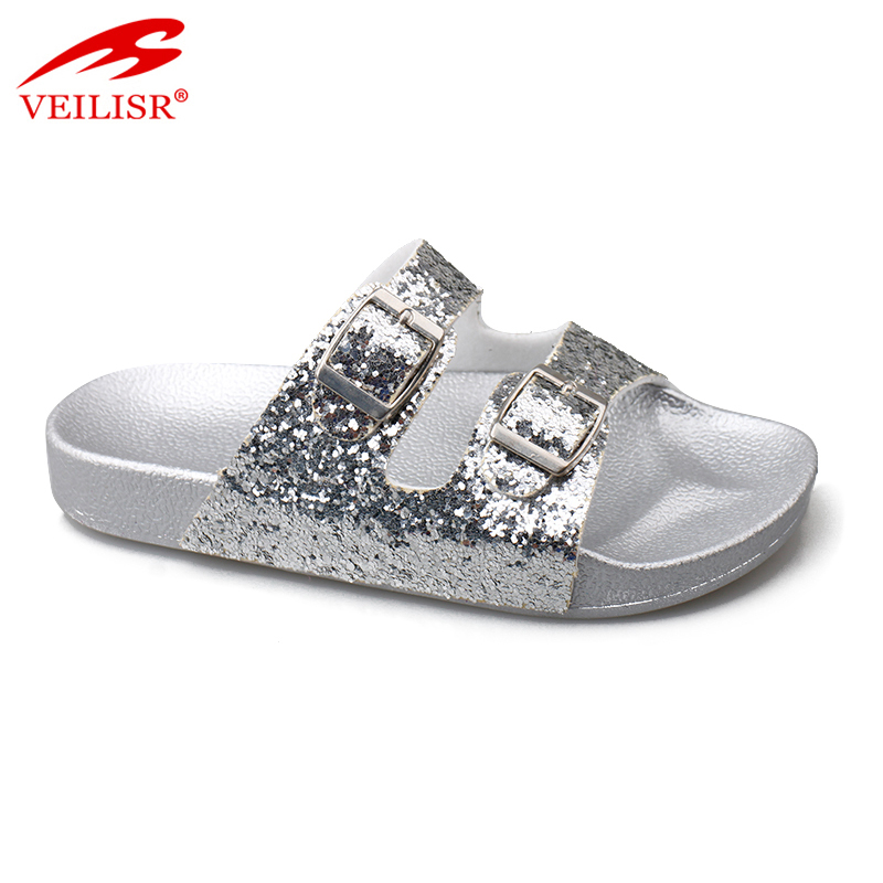 Sandalias summer children PU upper slippers kids slide sandals Featured Image