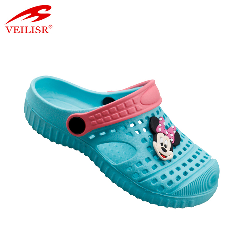 Latest design cartoon funny children beach sandals kids EVA clogs