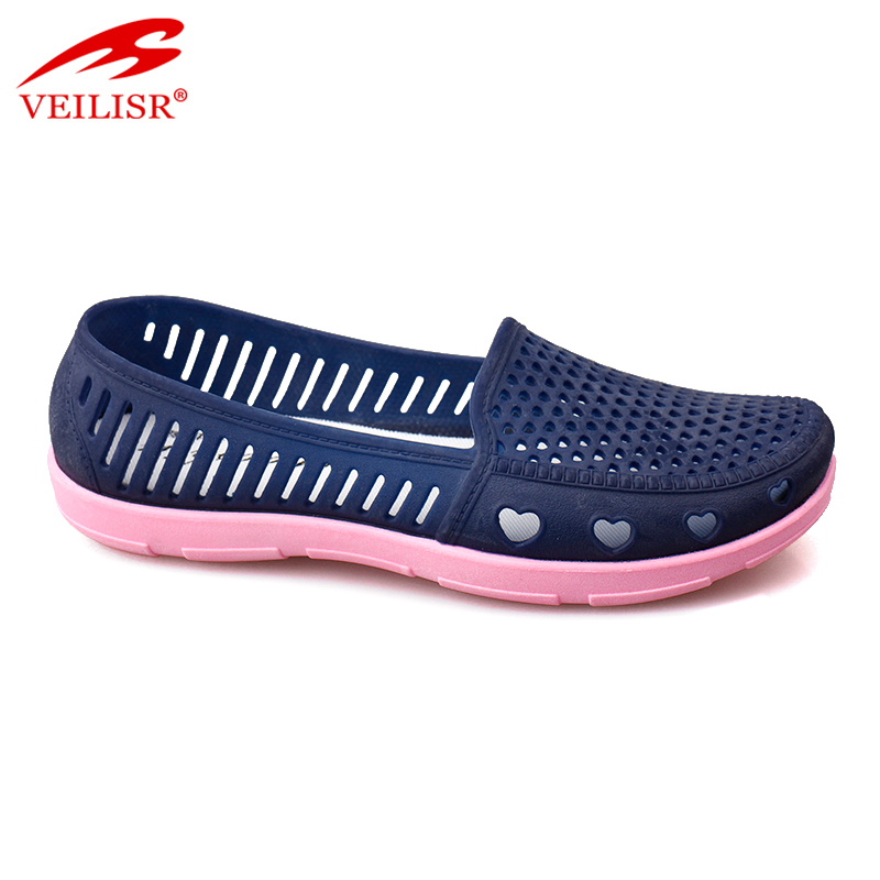 Outdoor summer ladies driving shoes slip on clogs women PVC sandals