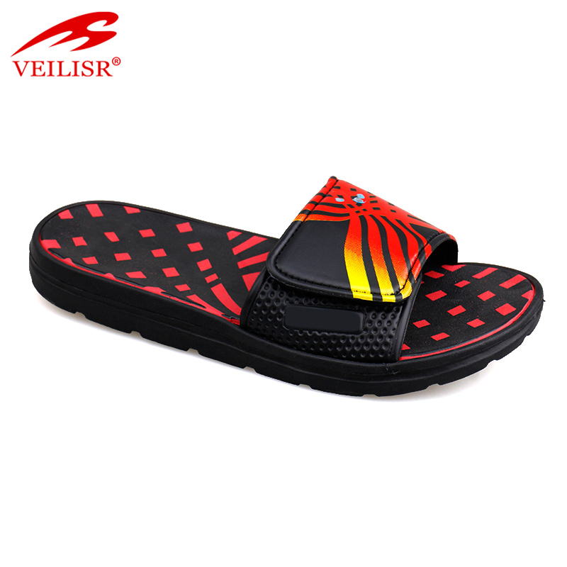 Chancletas summer custom buckle PU Slippers Men Slide Sandals