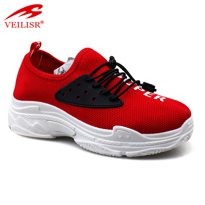 New knit fabric fashion casual sport shoes women chunky sneakers