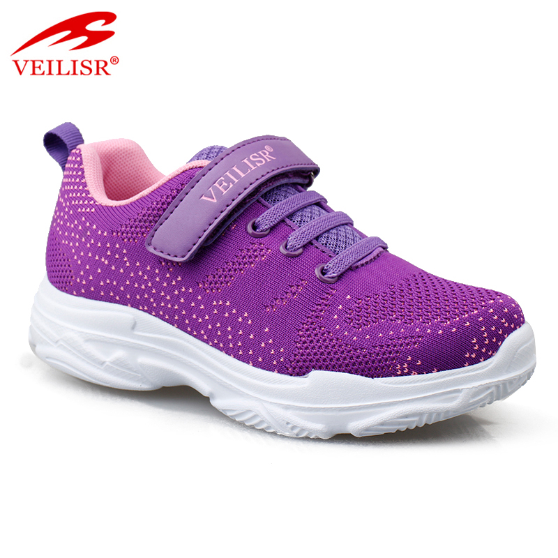 Zapatillas knit fabric children sneakers kids sports casual shoes