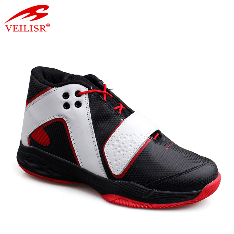 Zapatillas high quality PU upper sport sneakers men basketball shoes