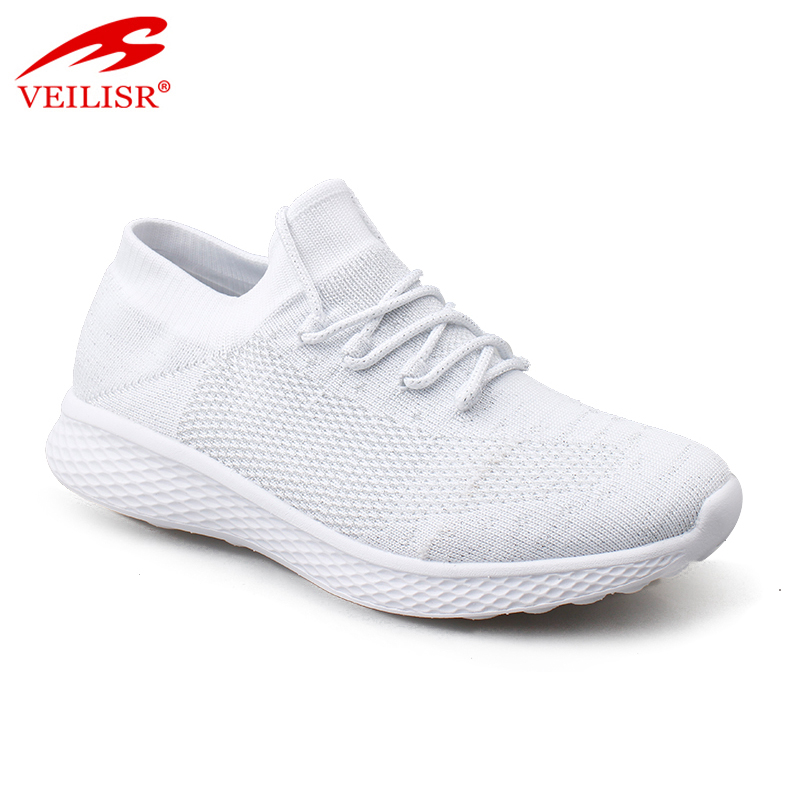 New knit fabric fashion ladies casual sport shoes women sneakers