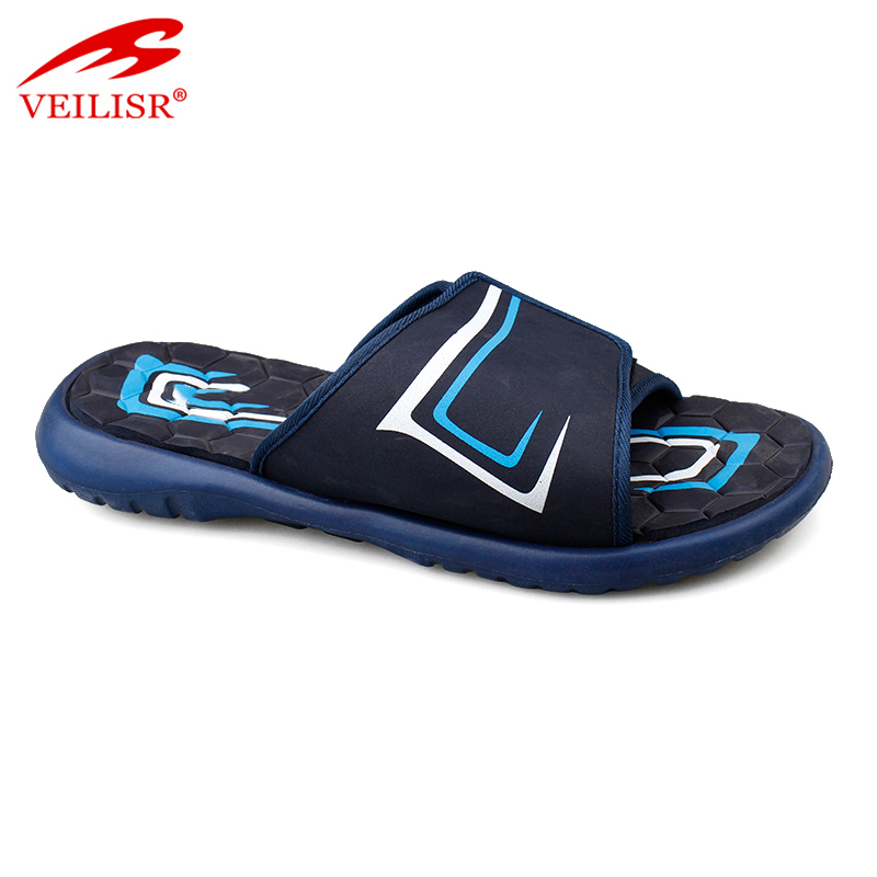 Outdoor indoor summer PU upper EVA sole slippers men slide sandals