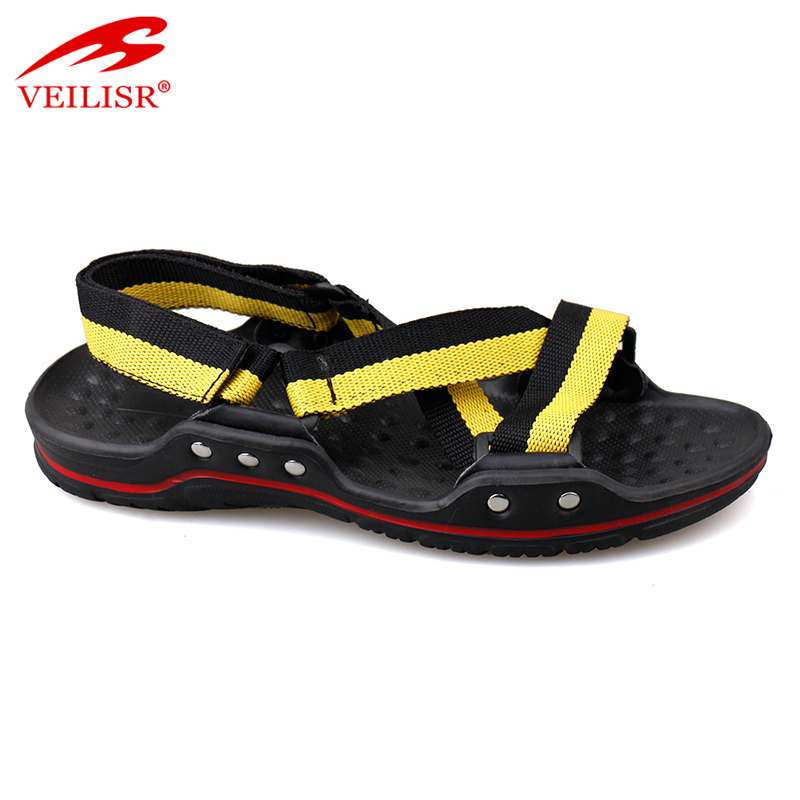 new fashion high quality fabric strap massage sandals for men
