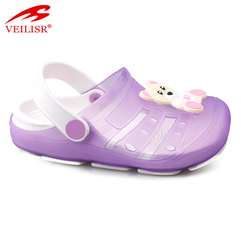 Most popular children jelly shoes beach PVC sandals kids clogs