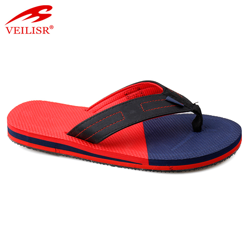 Outdoor summer fabric strap EVA sole slippers gym men flip flops