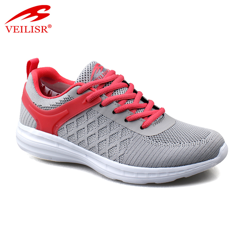 Outdoor knit fabric upper ladies sports casual shoes women sneakers