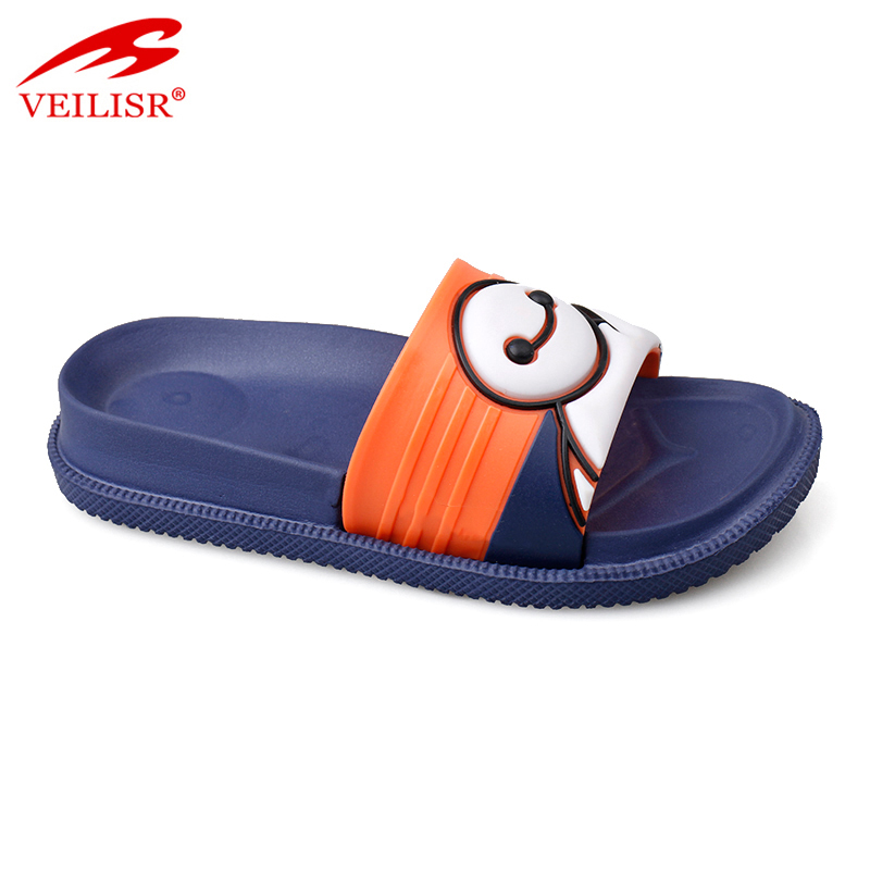 Indoor PVC upper EVA sole slide sandals swim pool kids slippers
