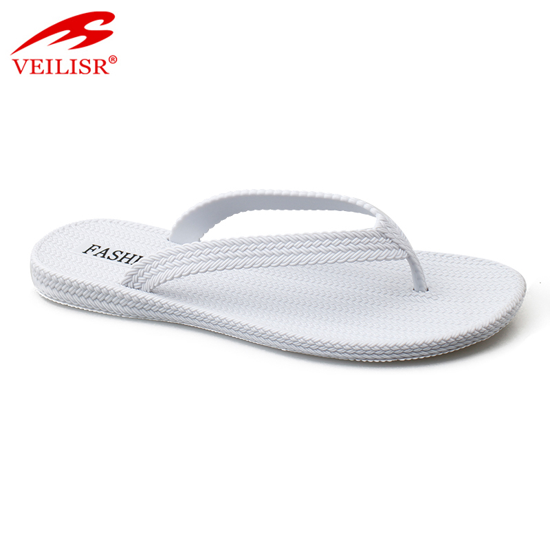 Outdoor summer ladies jelly shoes PVC slippers women flip flops