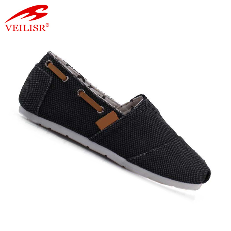 Outdoor ladies slip on flats casual canvas shoes women