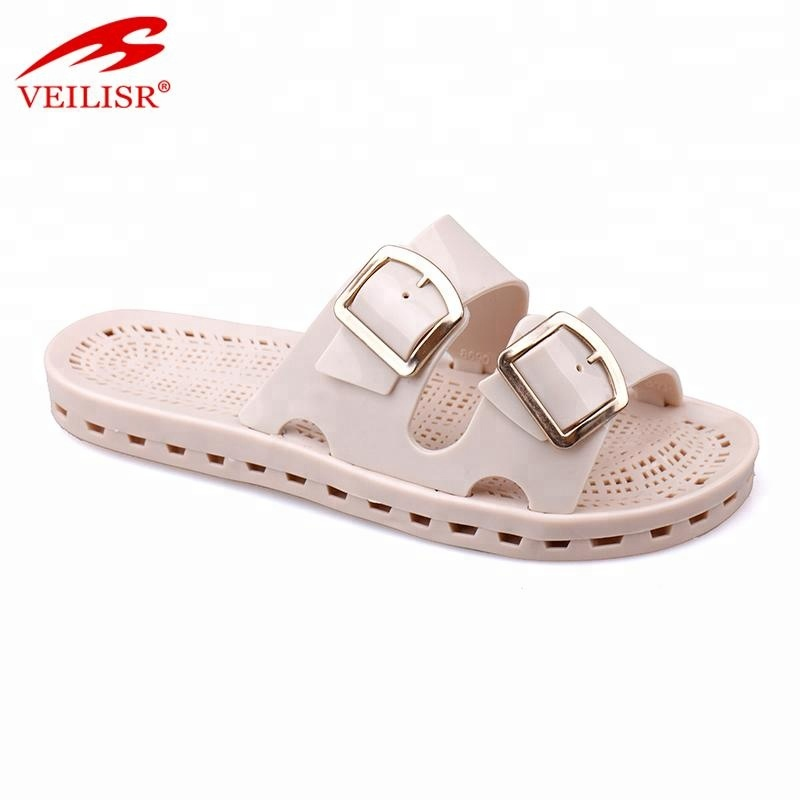 Chancletas summer ladies pvc jelly slippers women slide sandals