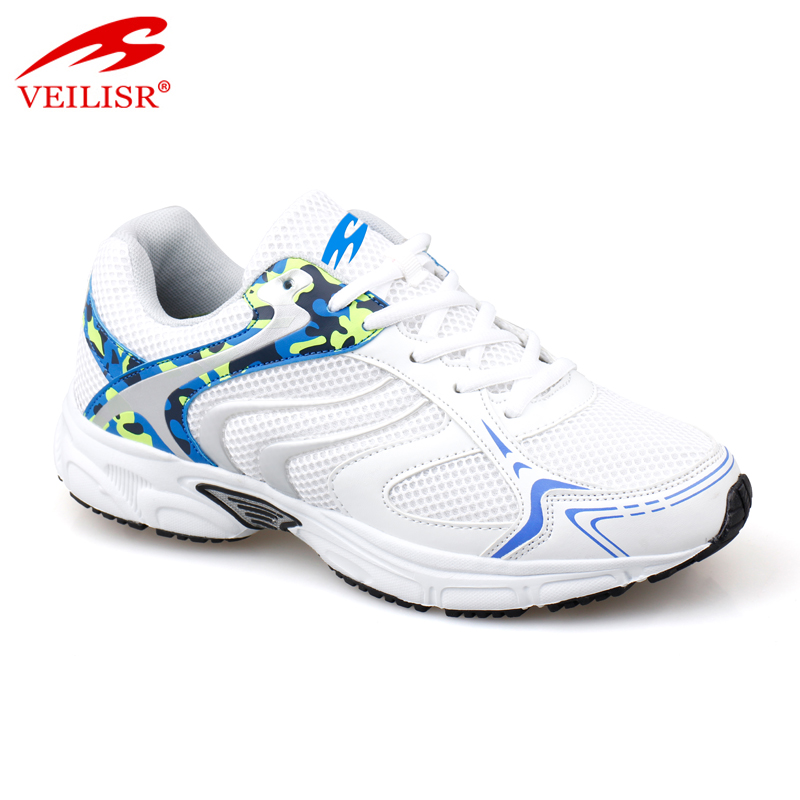 Outdoor PU mesh upper tennis running sneakers men sport shoes