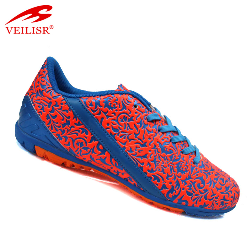 Zapatos de futbol indoor PU unisex women soccer boots football shoes