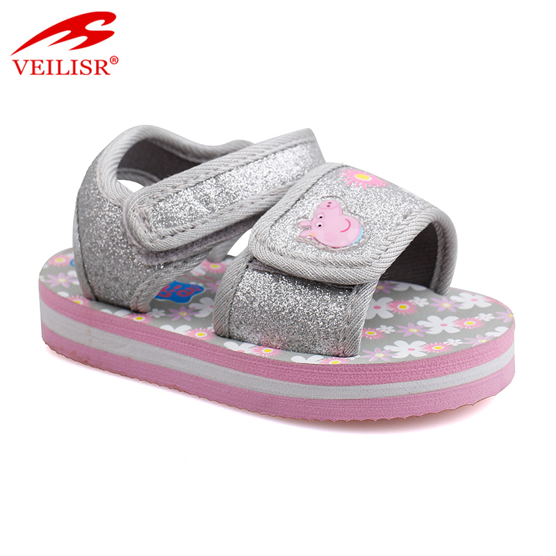 Most popular hook loop design thick sole footwear sport kids sandals Featured Image