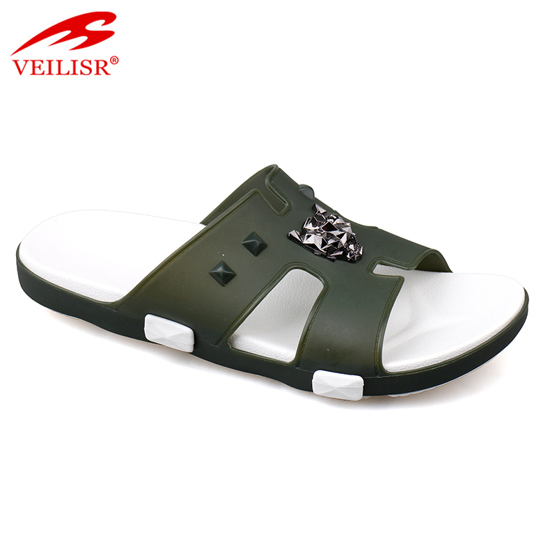 Chancletas summer clear PVC Jelly Slippers Men Slide Sandals