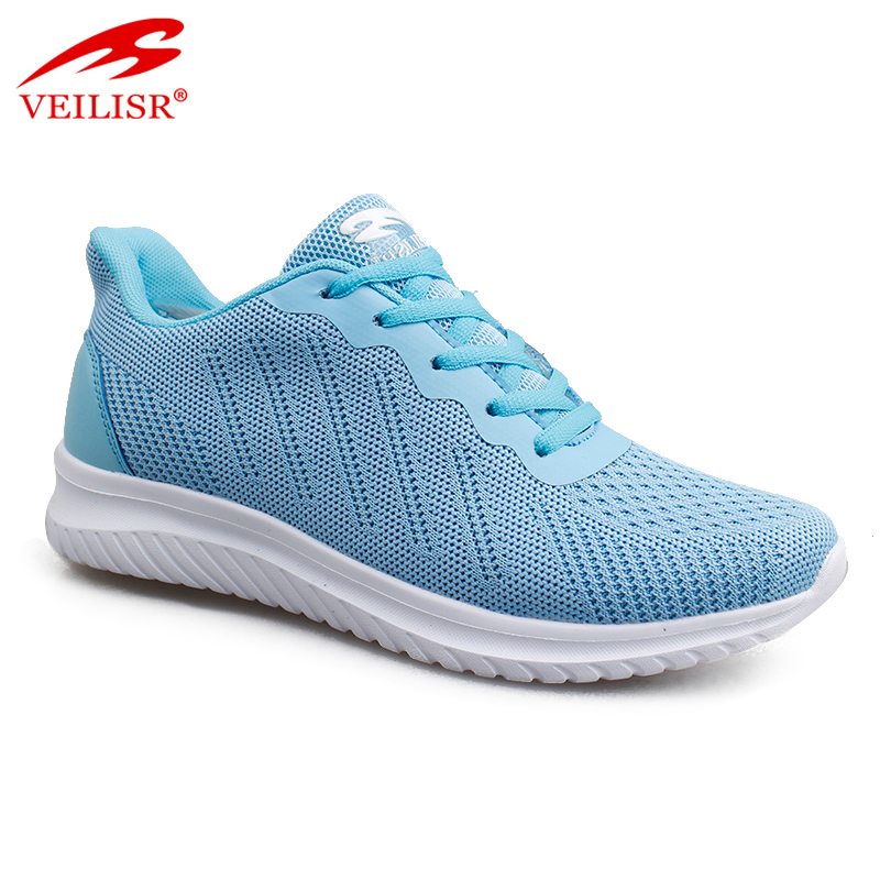 New design knit fabric ladies sports casual shoes women sneakers