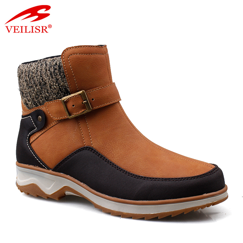 Buckle design faux leather fashion mid top footwear women winter boots