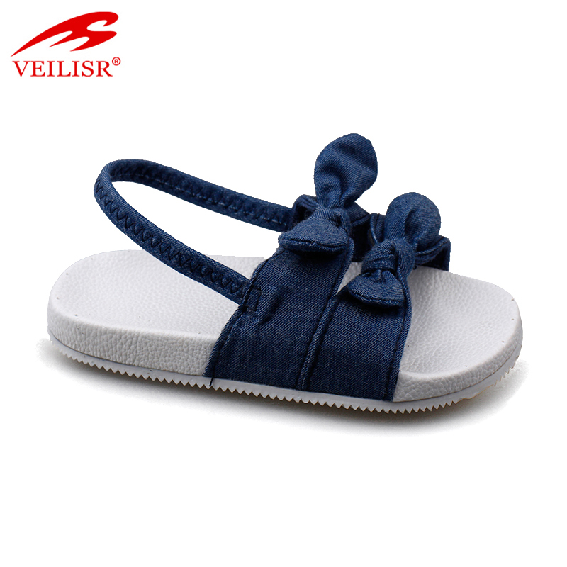 Sandalias outdoor summer children canvas slides kids sandals