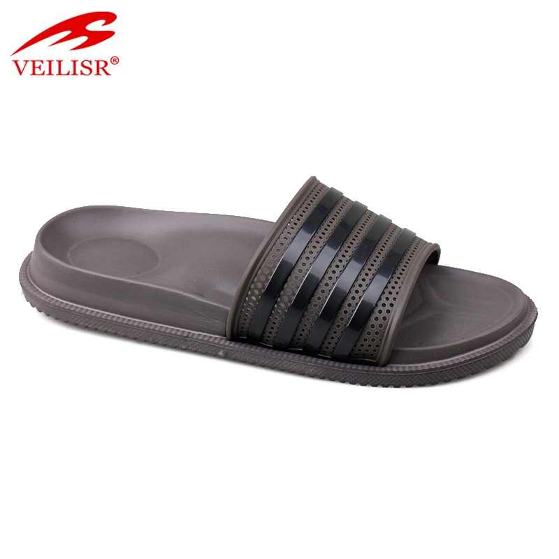 Outdoor summer beach PVC upper EVA sole slide sandals men slippers