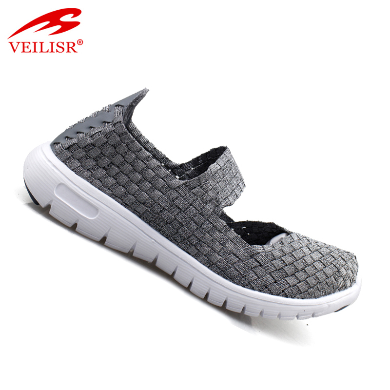 Most popular fashion slip on footwear women sport woven shoes