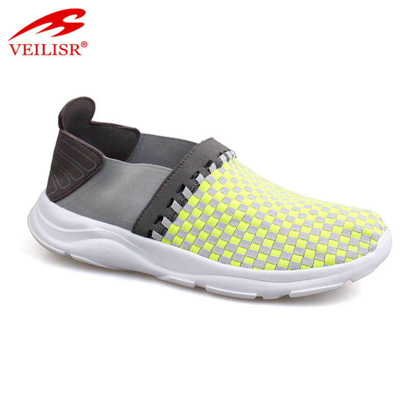 new style casual stretch fabric men elastic woven shoes