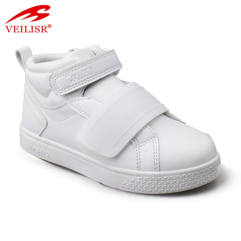 Outdoor PU upper casual sneakers kids rechargeable LED light shoes