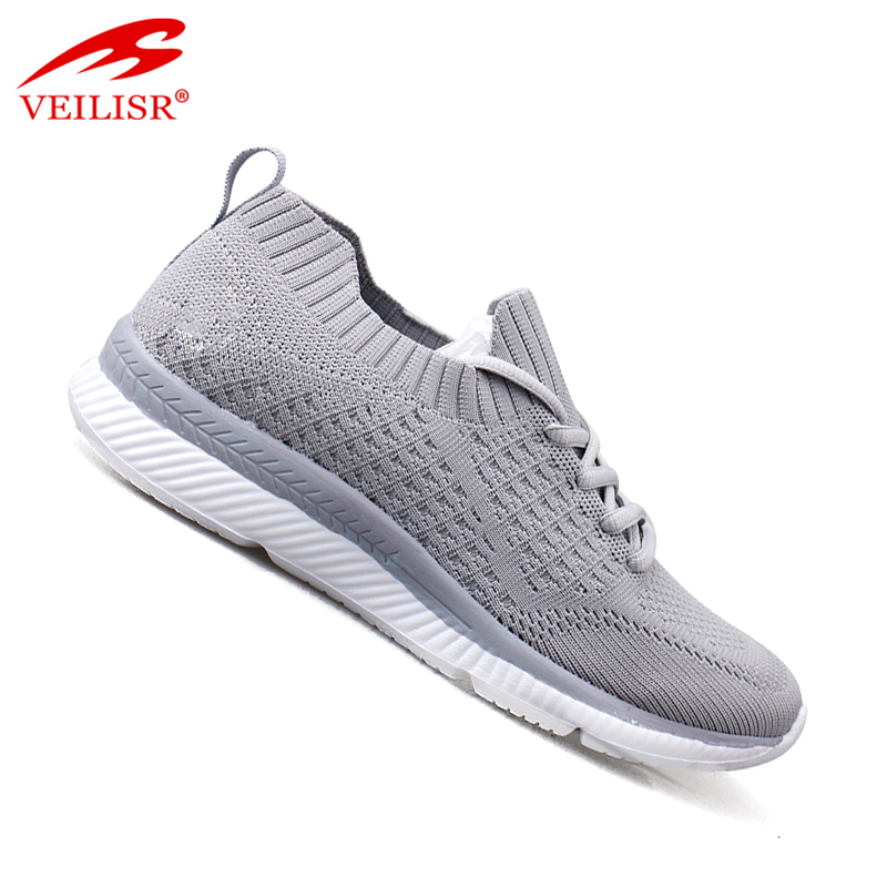 Breathable Classic Cheap New arrival knit fabric fashion women casual sport shoes sneakers