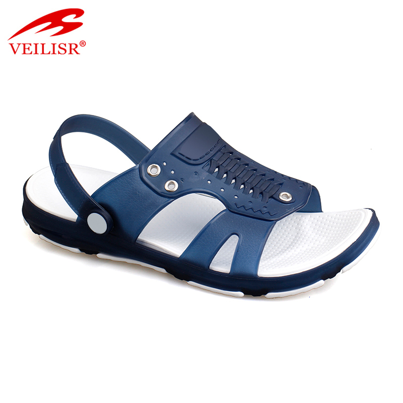 Outdoor summer clear PVC clogs jelly shoes men beach sandals