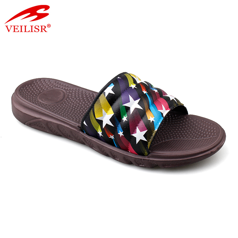 Outdoor summer beach PVC upper EVA sole slippers men slide sandals
