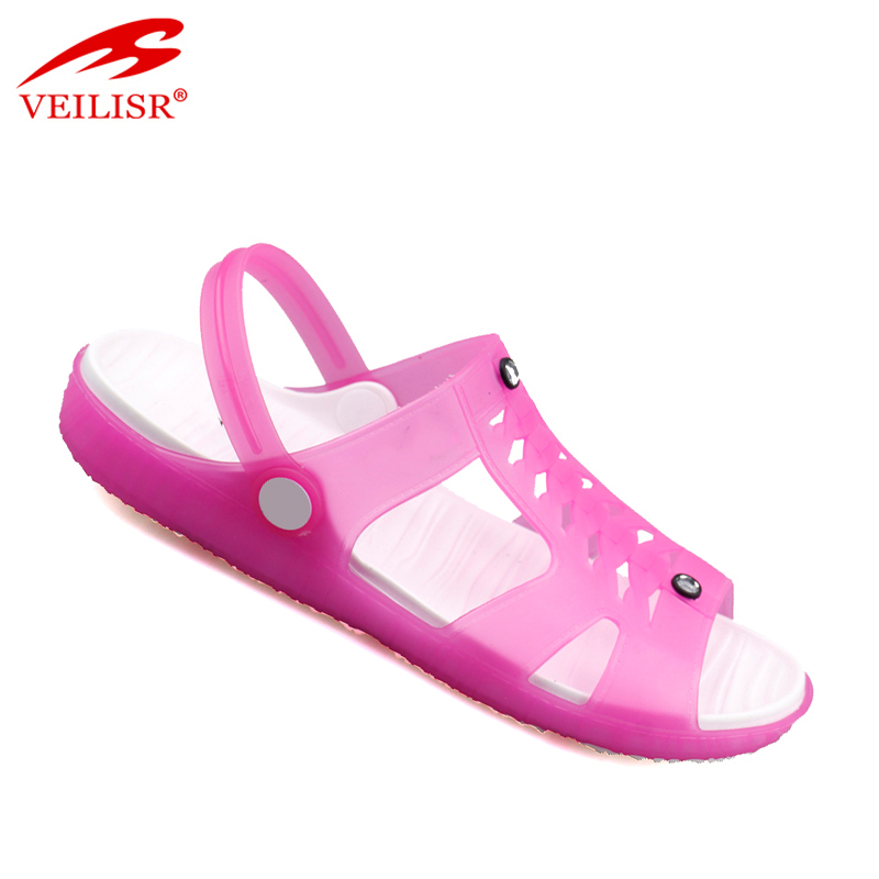 Outdoor summer beach clear PVC clogs jelly shoes women sandals