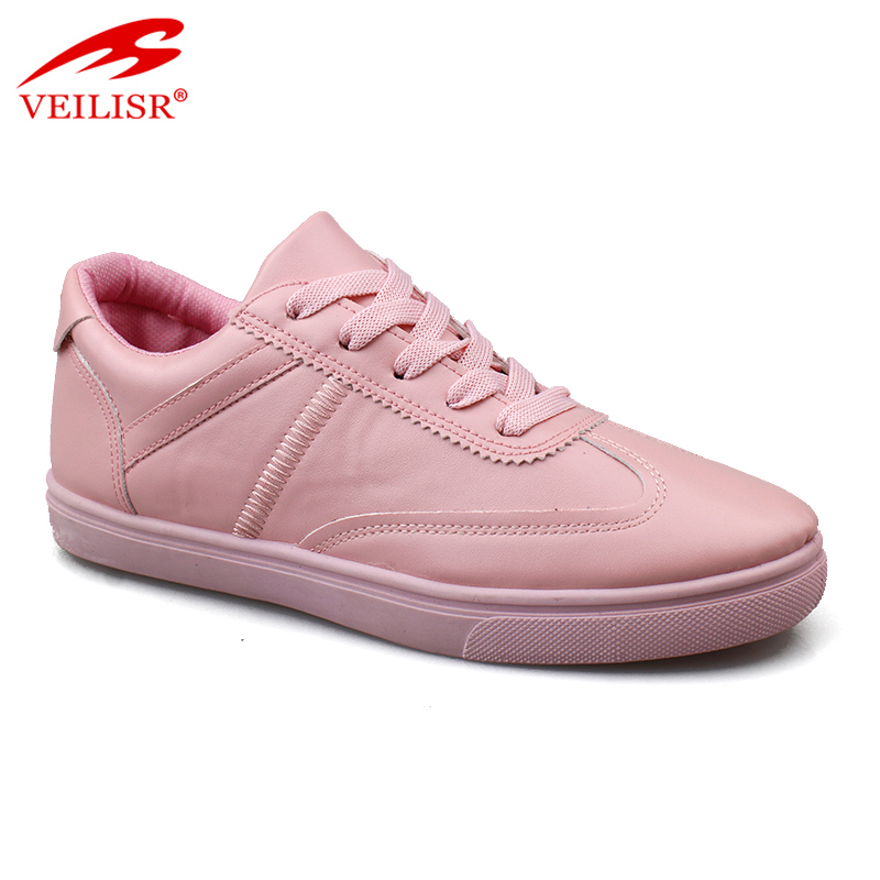 China Wholesale stylish Most popular fashion PU upper pink ladies casual running shoes women sneakers