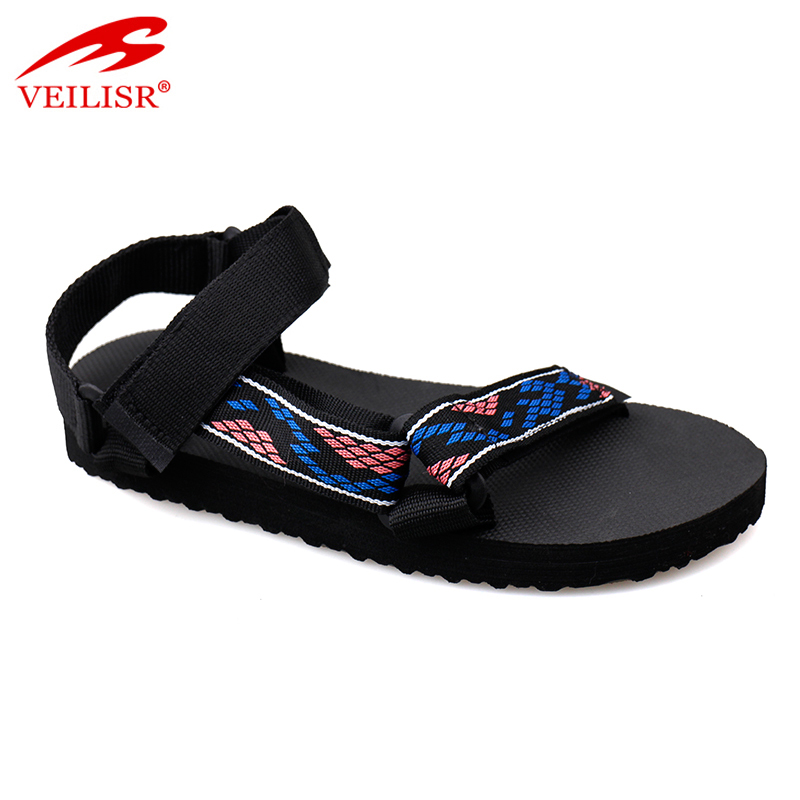 Outdoor summer nylon strap ladies sandalias sport women sandals