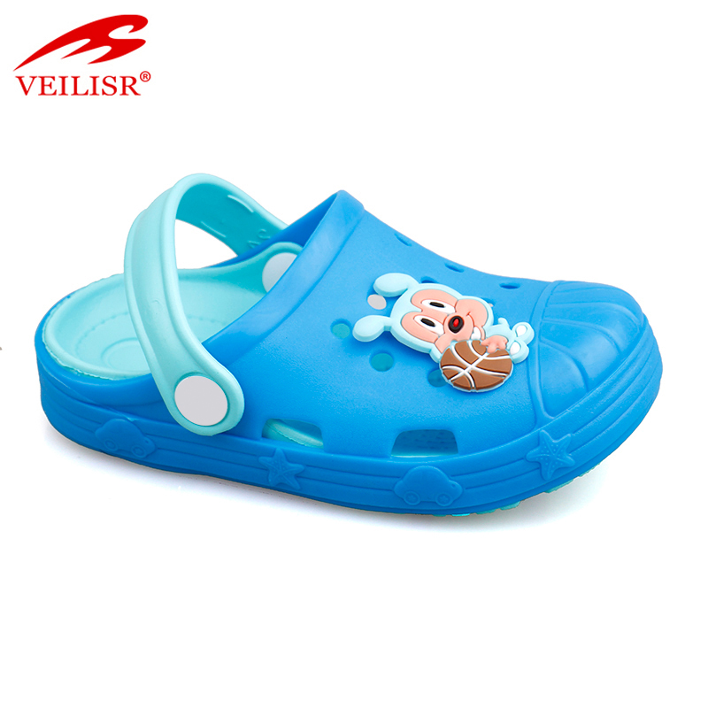 New eva sole animal style sandals kids clear plastic clogs