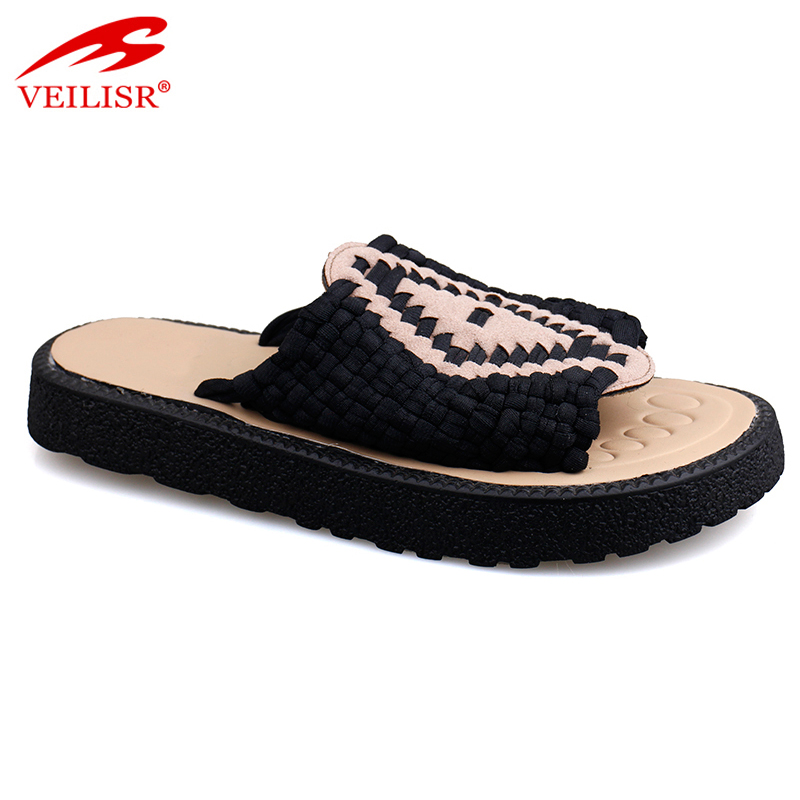 New design soft slide sandals women knit pattern slippers