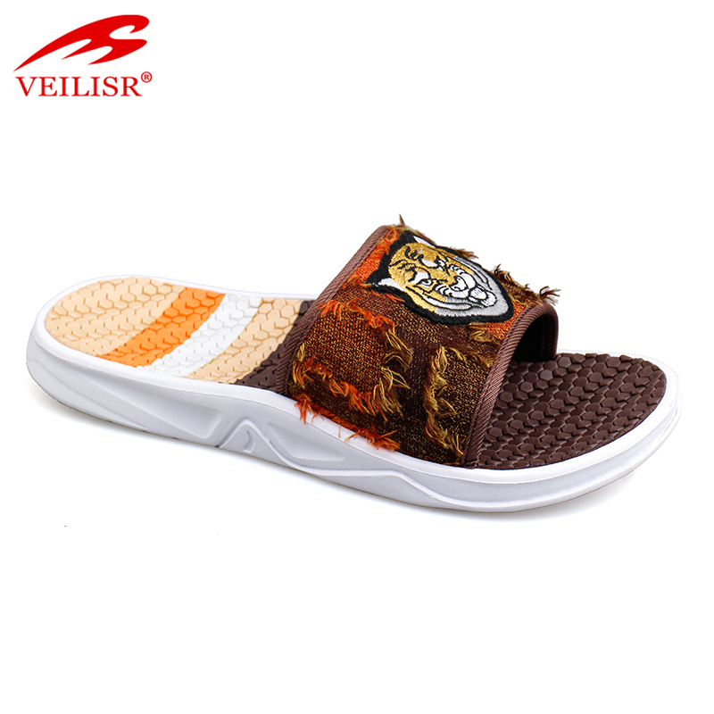 Outdoor summer jeans upper EVA sole slide sandals men slippers