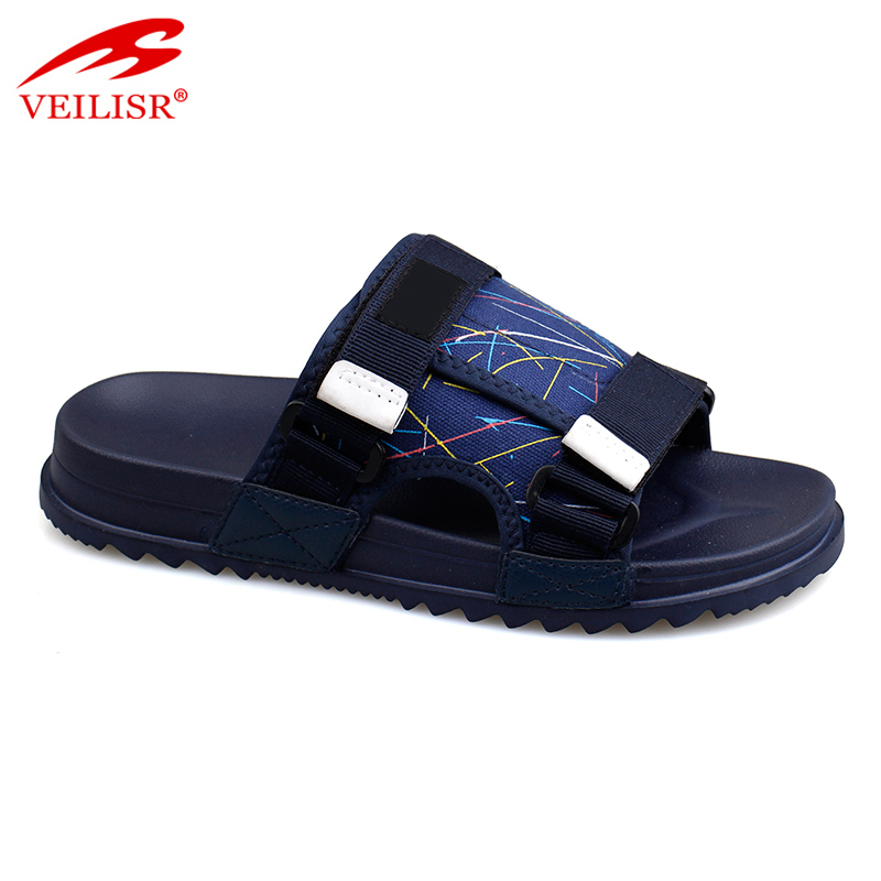 Chancletas summer nylon canvas buckle slippers men Slide Sandals