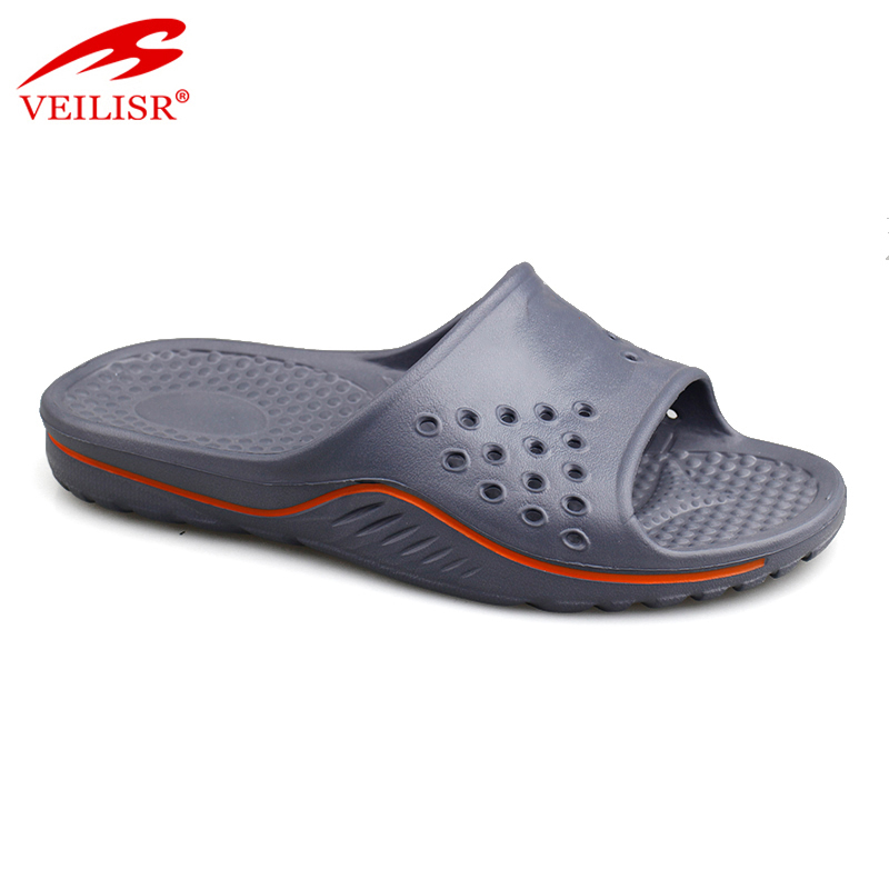 Wholesale summer indoor bathroom EVA slippers men slide sandals