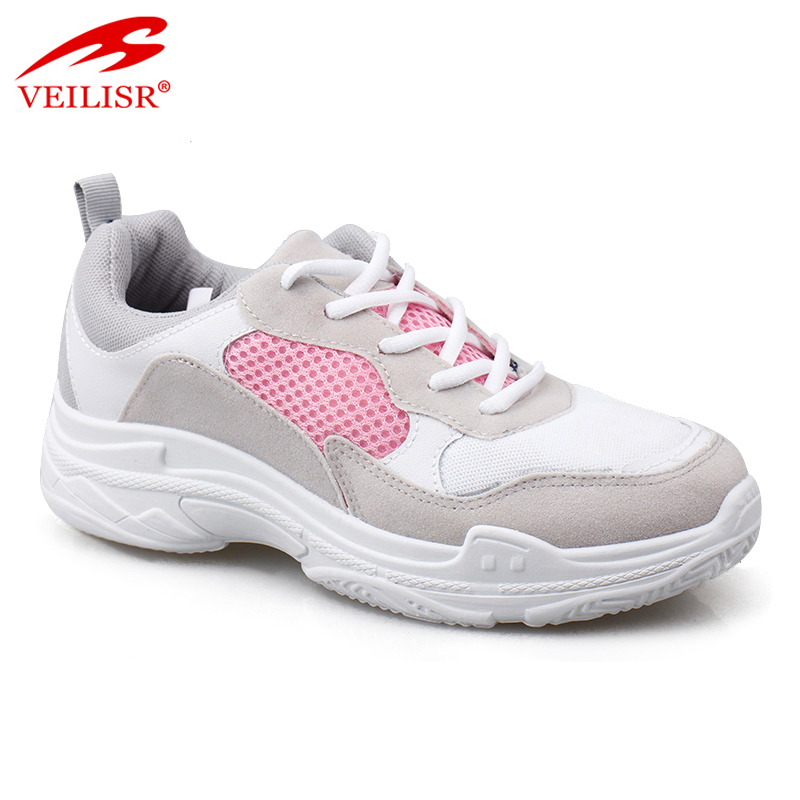 New faux suede mesh ladies fashion sneakers women casual sport shoes