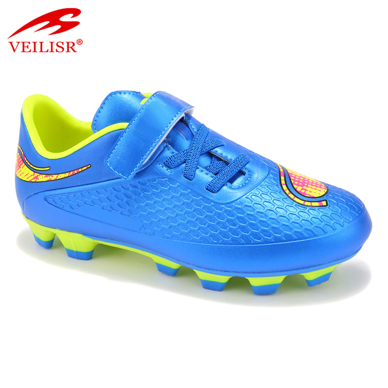 Zapatos de futbol children PU football shoes kids soccer boots