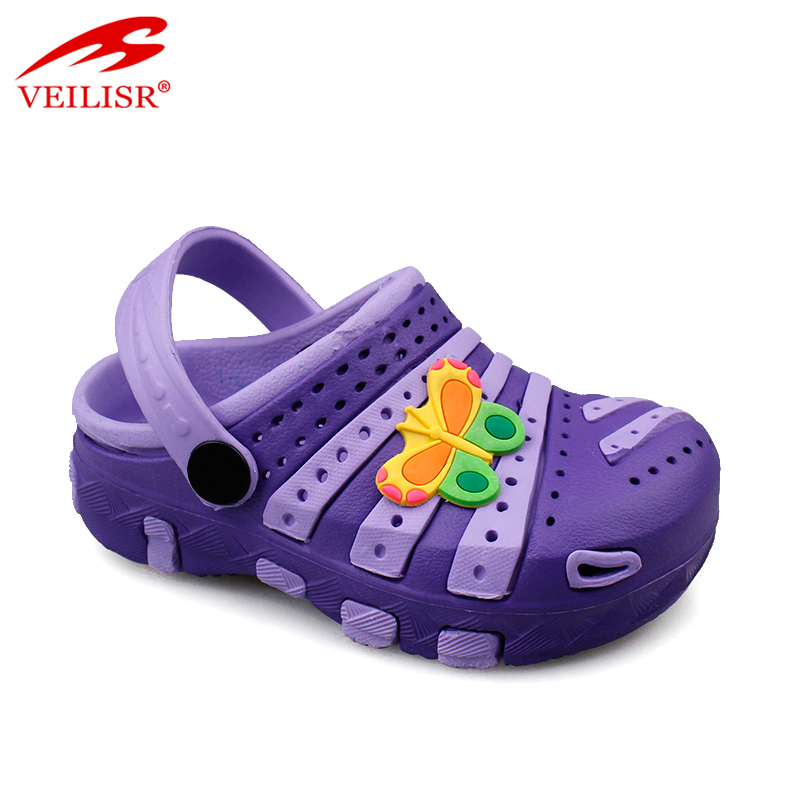 Outdoor summer beach children holey EVA sandals garden kids clogs