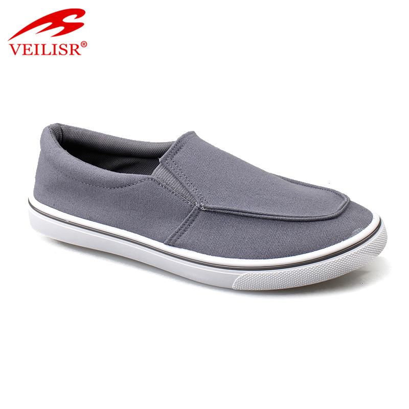 New design injection sole slip on sneakers men canvas casual shoes