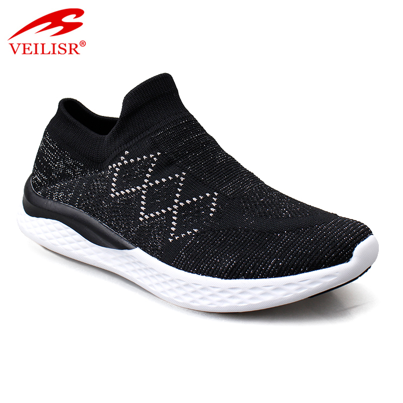 Most popular knit fabric fashion ladies casual shoes women sneakers Featured Image
