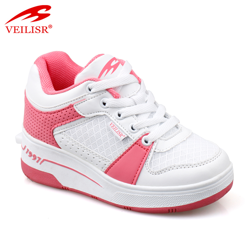 Outdoor quality PU upper 1 wheel sneakers kids roller skate shoes